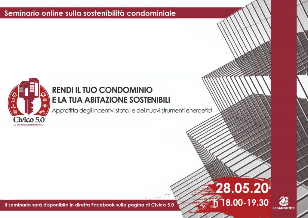 Seminario online sulla sostenibilità condominiale